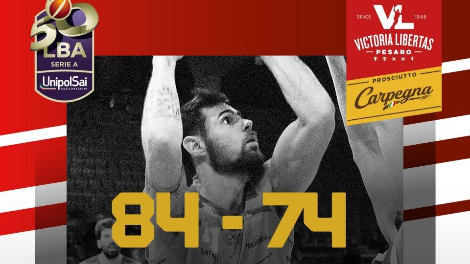 Pesaro vince ancora: Trieste ko 84-74