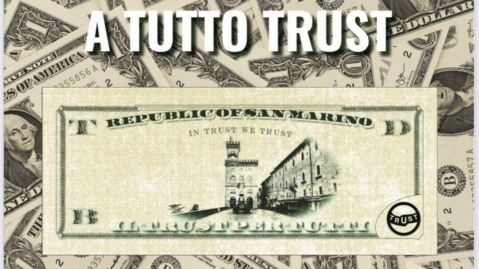 """""""A tutto trust"""" disponibile in tutte le edicole della Repubblica di San Marino"""