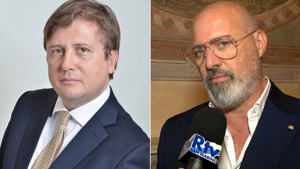 Il viceministro della Salute, Pierpaolo Sileri, e Stefano Bonaccini, presidente Emilia-Romagna