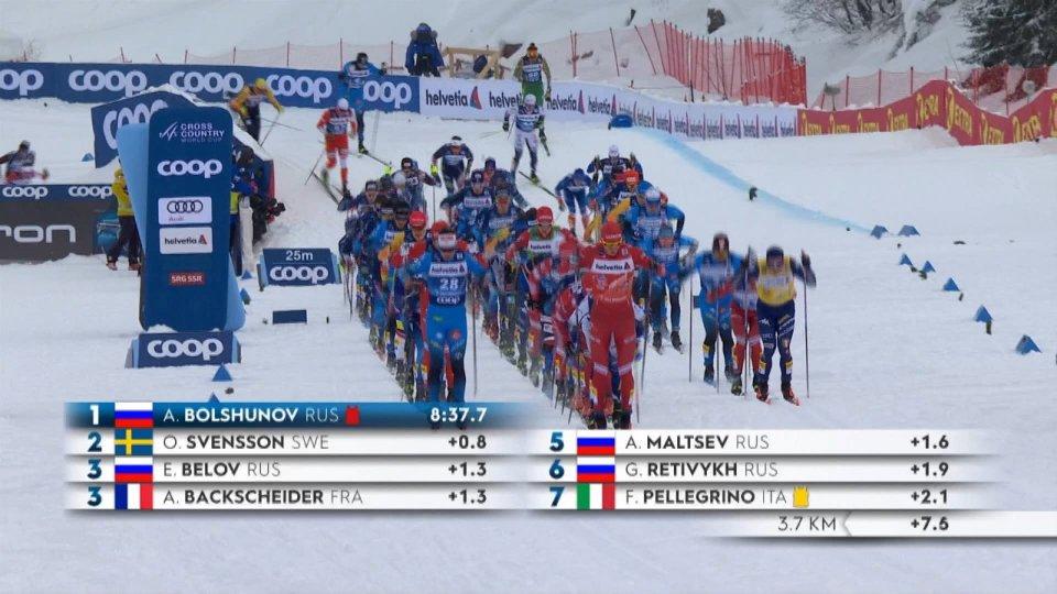 Tour de Ski: seconda tappa a Bolshunov e Svahn