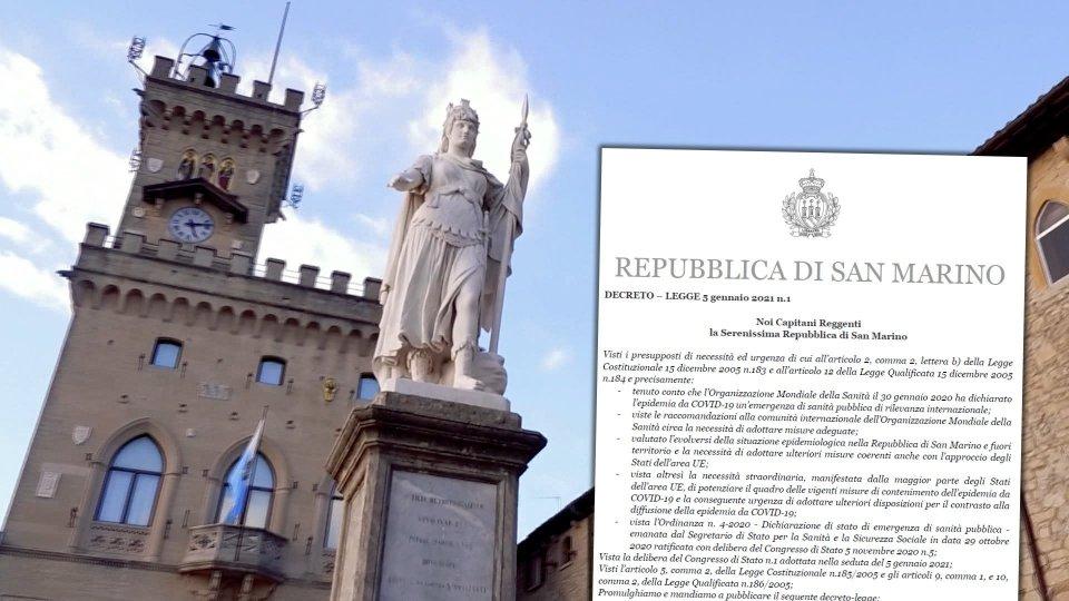San Marino: emesso il decreto 1/2021 con le misure in vigore dal 7 al 16 gennaio