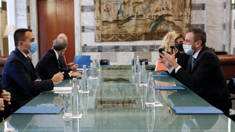 Segreteria Esteri: incontro con il Ministro degli Affari Esteri italiano Di Maio e il Sottosegretario Scalfarotto