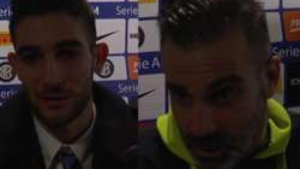 Roberto Gagliardini e Stefano SorrentinoInter-Chievo 3-1: Gagliardini e Sorrentino nel dopo partita
