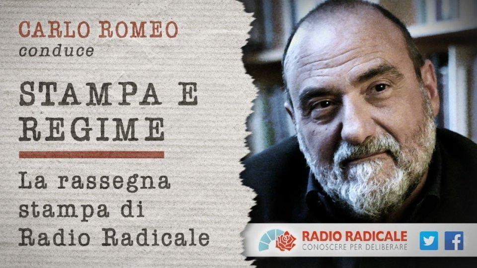 """Il Dg Romeo torna alla conduzione di """"Stampa e Regime"""""""