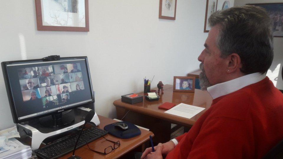il Segretario Generale CSdL Giuliano Tamagnini durante l'incontro via Zoom