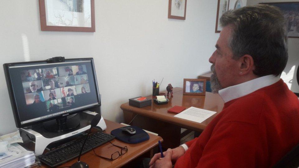 Il segretario Csdl Giuliano Tamagnini in collegamento  Zoom
