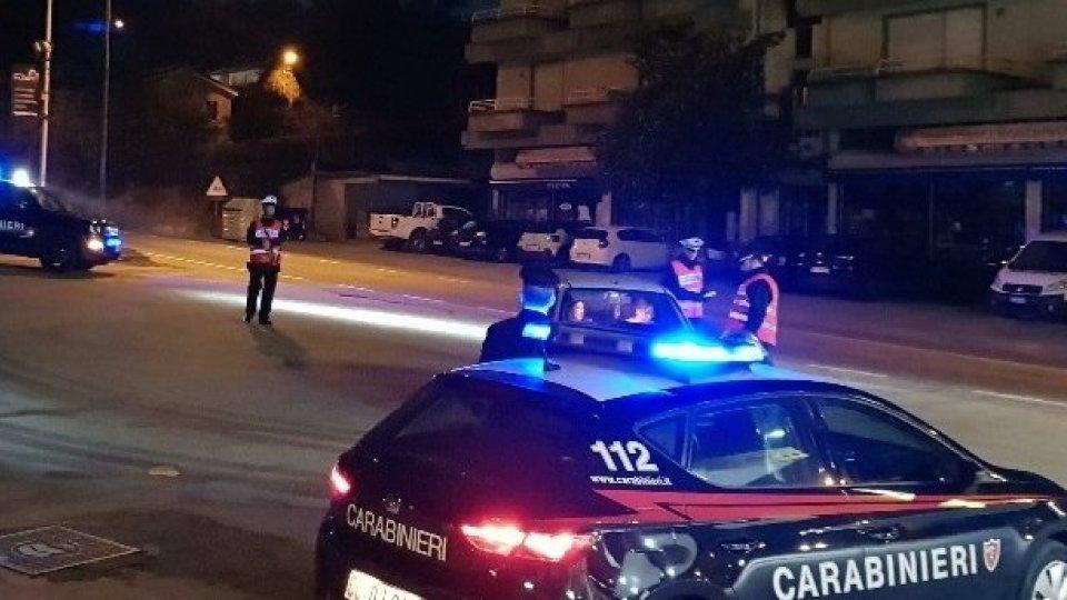 Fine settimana di controlli per Cc Novafeltria: 1 persona denunciata e 7 sanzionate