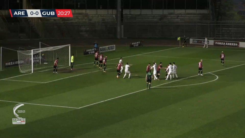 Serie C: l'Arezzo sempre più solo in fondo alla classifica. Il Gubbio vince con Pasquato