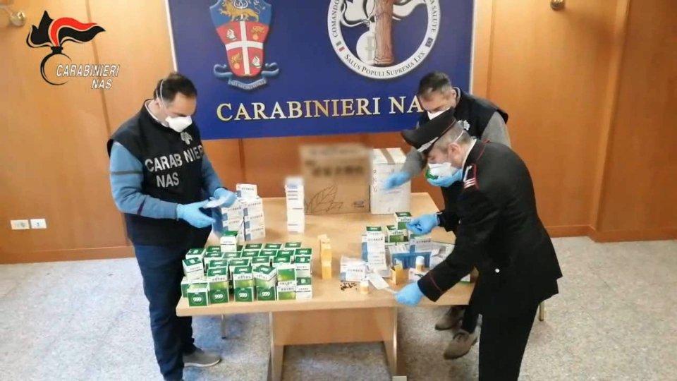 Foto Carabinieri NASCovid: altri 14.300 farmaci illegali sequestrati in 6 città