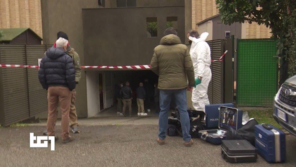 Rilievi della Polizia Scientifica sul luogo del delitto (@TG1)