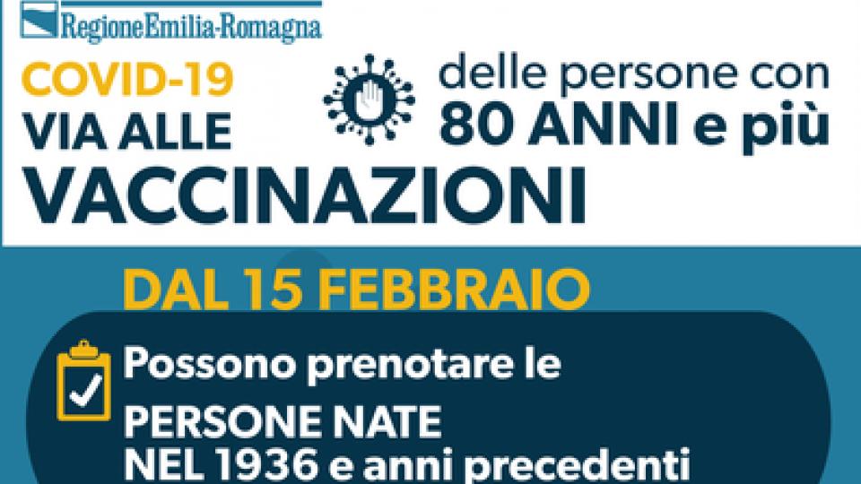 Emilia Romagna: al via le vaccinazioni per over 80