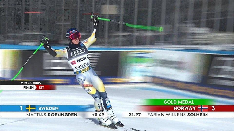 Parallelo a squadre, oro alla Norvegia