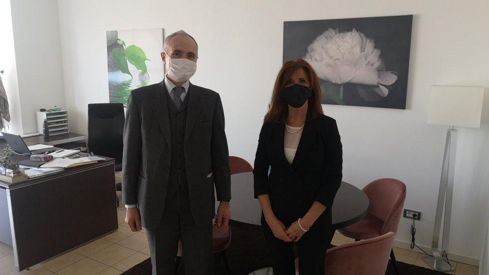 Segretario USL Giacomini incontra Ambasciatore d'Italia Mercuri