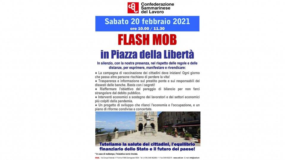 La democrazia non si ferma: domani in piazza con la CSdL per il Flash Mob