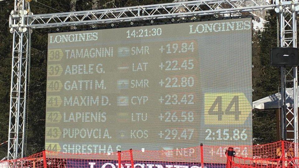 Qualificazioni Slalom: un altra bella prova di Tamagnini e Gatti nella 2ª manche