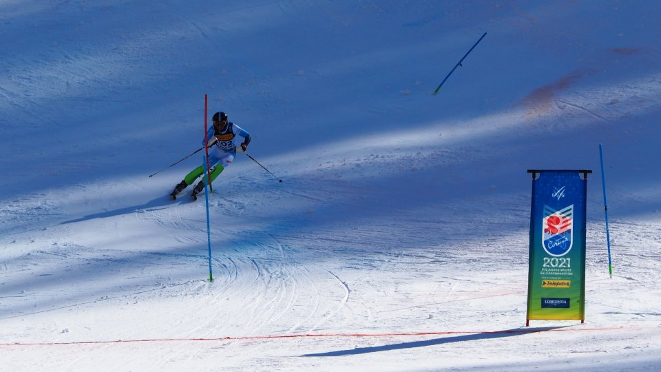 Alberto Tamagnini occupa il 54esimo posto nella prima manche dello slalom a Cortina