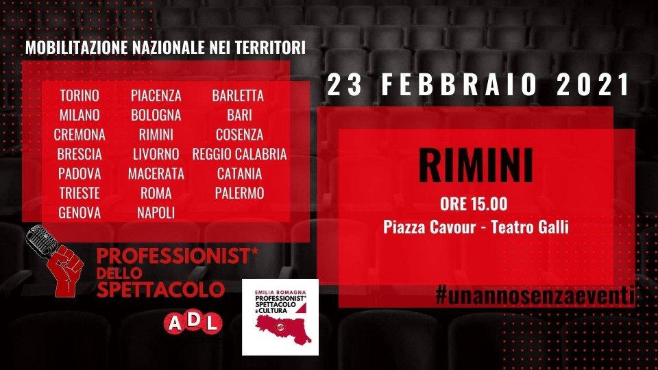 Martedì 23 febbraio a Rimini la Manifestazione Nazionale Lavoratrici e Lavoratori dello Spettacolo e della Cultura