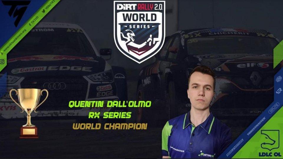 Quentin Dall'Olmo ha vinto il mondiale rally cross E Sport