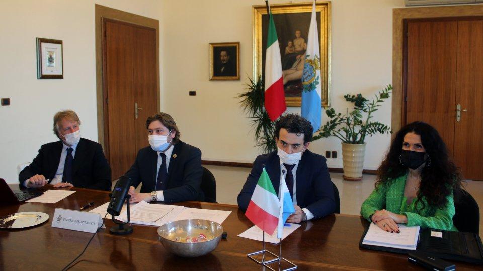 """Federico Pedini Amati incontra Massimo Garavaglia. """"Nuovi accordi bilaterali per il rilancio dopo il Covid"""""""