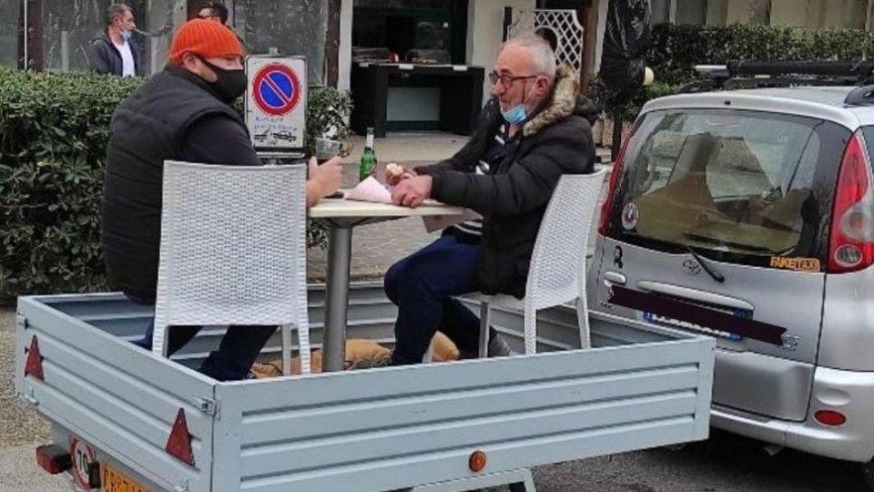 Rimini: caffè con servizio al tavolo in tempi di covid