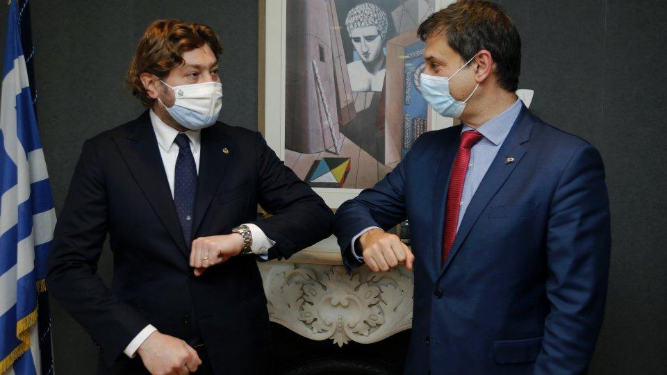 Ad Atene il bilaterale fra il Segretario di Stato per il Turismo Pedini Amati e il Ministro del Turismo greco Theoharis