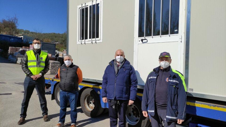 Segreteria Territorio: Partito questa mattina il modulo abitativo donato da San Marino alle vittime del sisma croato