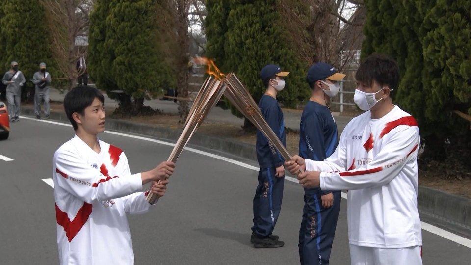 La fiaccola partita da Fukushima