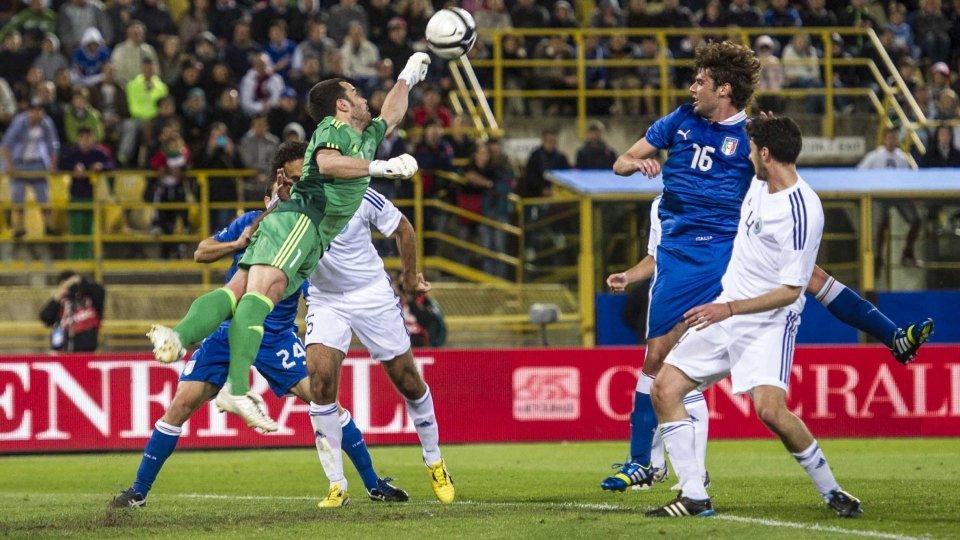 L'ultima amichevole ufficiale tra Italia e San Marino nel 2013 a Bologna