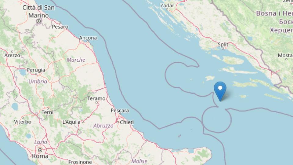 Diverse scosse in Adriatico, avvertite sulle coste italiane