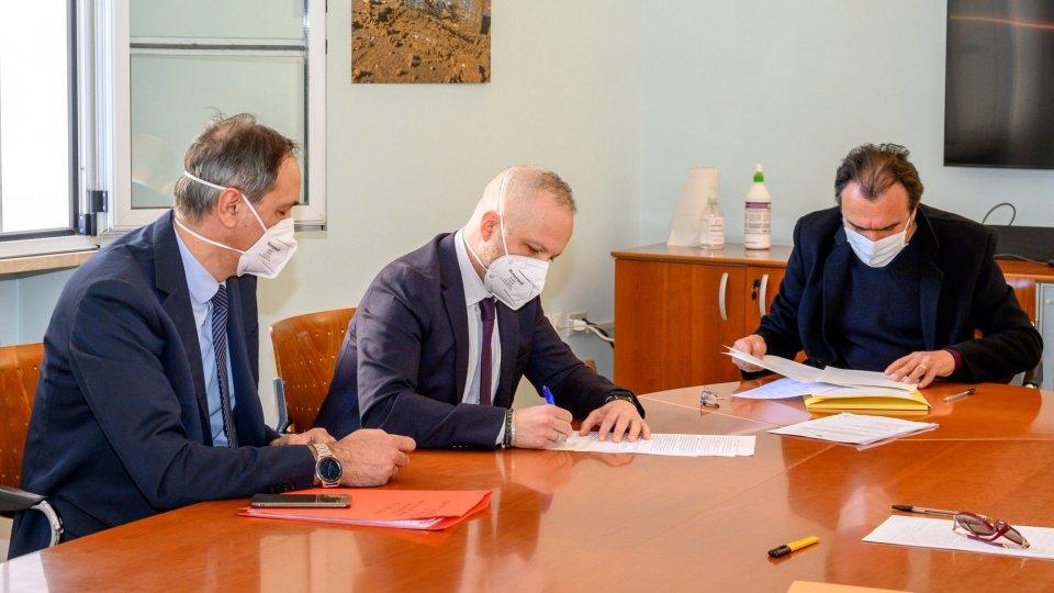Nuova Caserma dei Carabinieri, firmato l'atto notarile di diritto di superficie ceduto all'Agenzia del Demanio