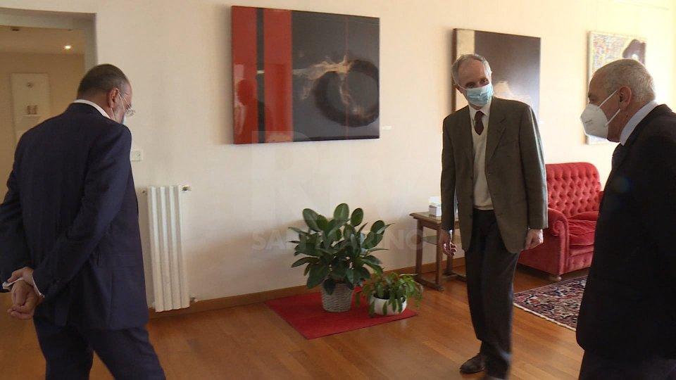 I vertici Rtv ricevuti in Ambasciata d'Italia