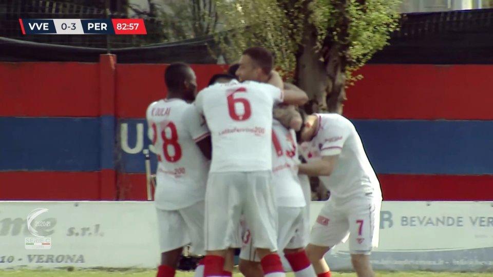 Virtus Verona non pervenuta, il Perugia cala il tris (0-3)