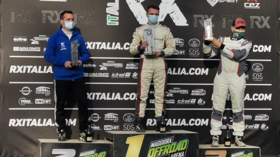 Paolo Diana sul podio nella prima del Campionato Italiano Rallycross