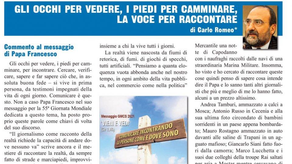 """Montefeltro: Dg Romeo, """"La realtà non è a portata di click o like"""""""