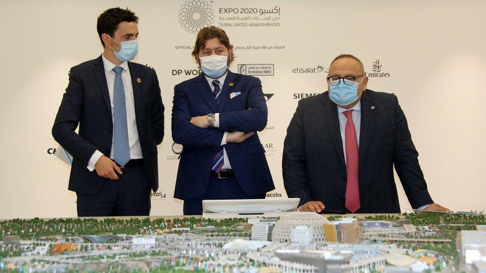 Expo 2020: Pedini Amati visita il Padiglione San Marino