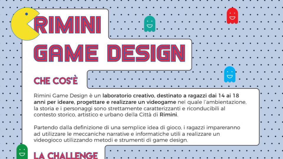 Al via 'Rimini Game Design', il laboratorio digitale che avrà protagonisti 15 ragazzi dai 14 ai 18 anni