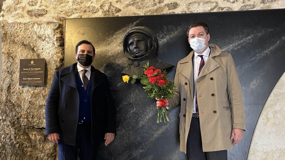 San Marino ricorda il cosmonauta Yuri Gagarin nell'anniversario del 1° volo spaziale