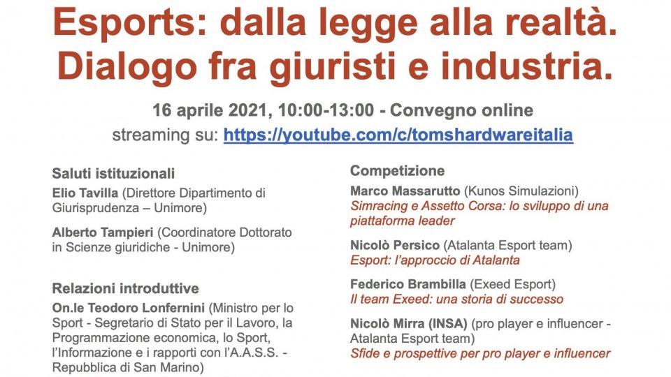 """""""Esports: dalla legge alla realtà. Dialogo fra giuristi e industria"""" presso l'Officina informatica del CRID"""