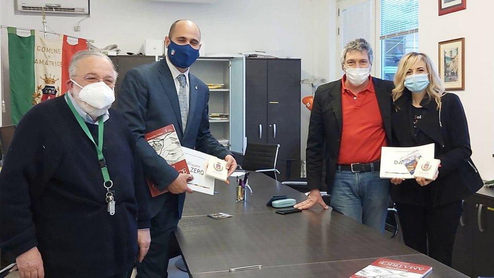 Visita ad Amatrice dei sindaci Spinelli e Giorgetti