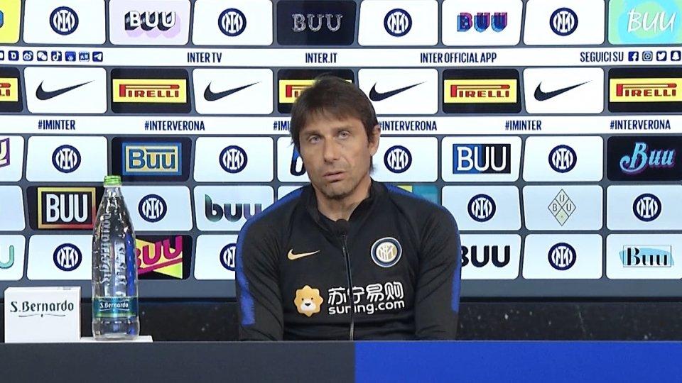 """Conte: """"Il Verona è un altro ostacolo di livello sul nostro cammino verso il tricolore"""""""