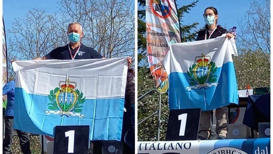 Doppio oro, di Bartolini e Marcaccini, ai Campionati Italiani Bowhunter per i Lunghi Archi di San Marino