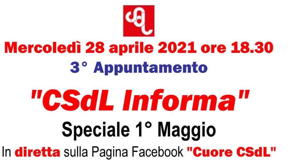 """Terzo appuntamento di """"CSdL Informa"""" dedicato al 1° maggio"""