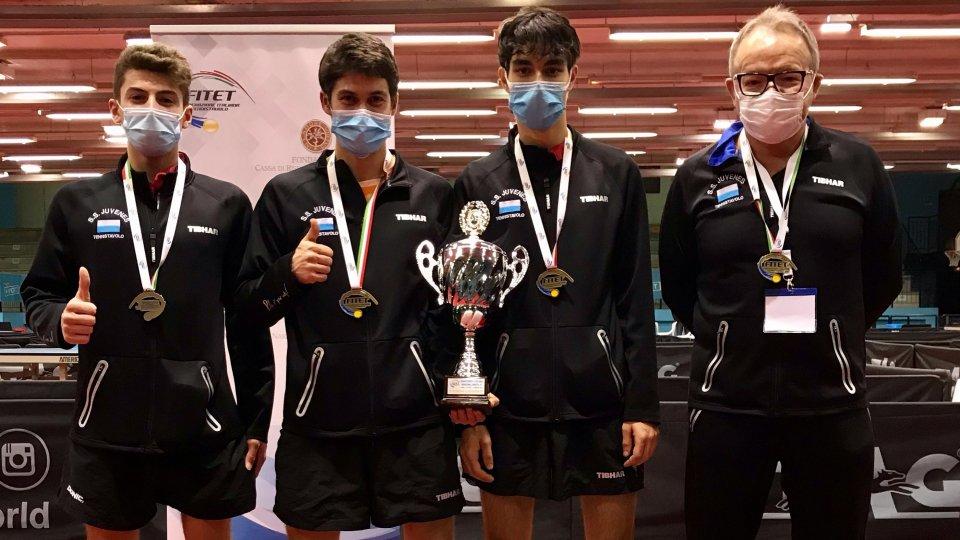 Tennis Tavolo: Juvenes di bronzo ai Campionati under 21