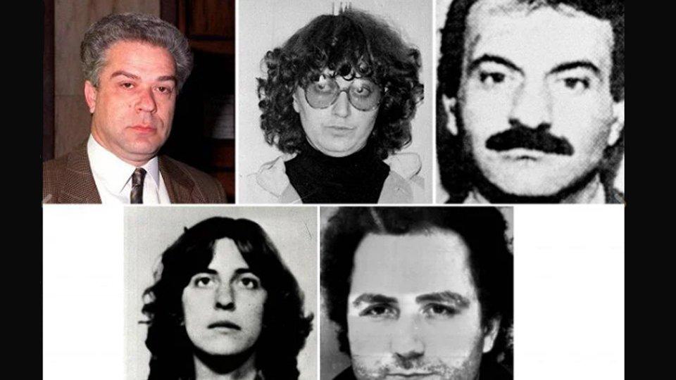 Foto: rainews | Da sinistra in alto: Giorgio Pietrostefani, Marina Petrella, Enzo Calvitti. Da sinistra in basso: Roberta Cappelli, Sergio Tornaghi