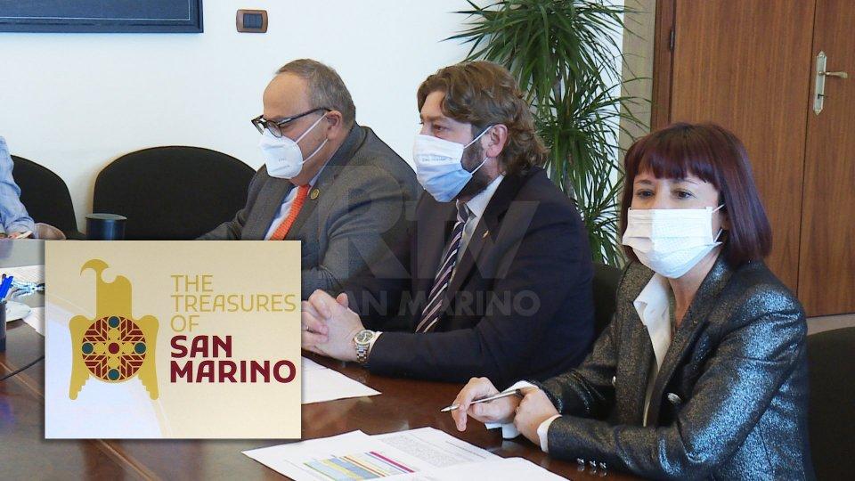 Mauro Maiani, Federico Pedini Amati e Arianna Serra. Nel riquadro il logo dell'Expo