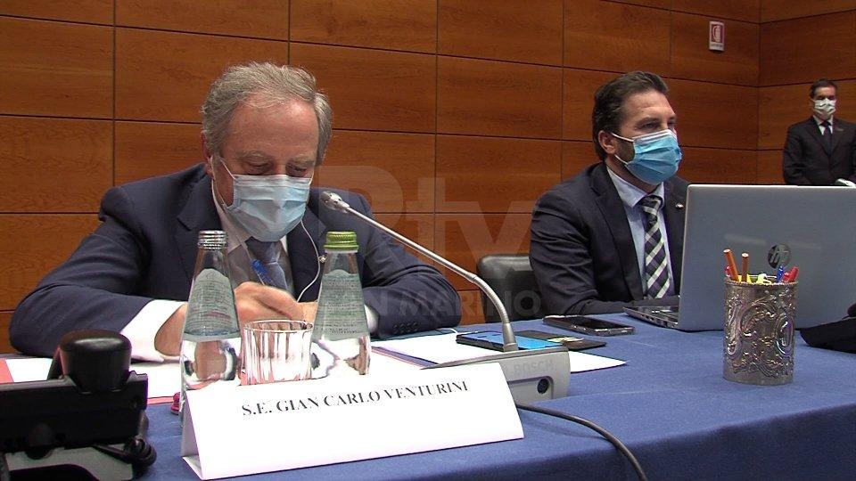 I Capitani Reggenti Gian Carlo Venturini e Marco Nicolini