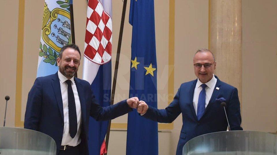 Zagabria: visita ufficiale del Segretario Beccari in Croazia. Pieno sostegno al cammino del Titano verso l'UE