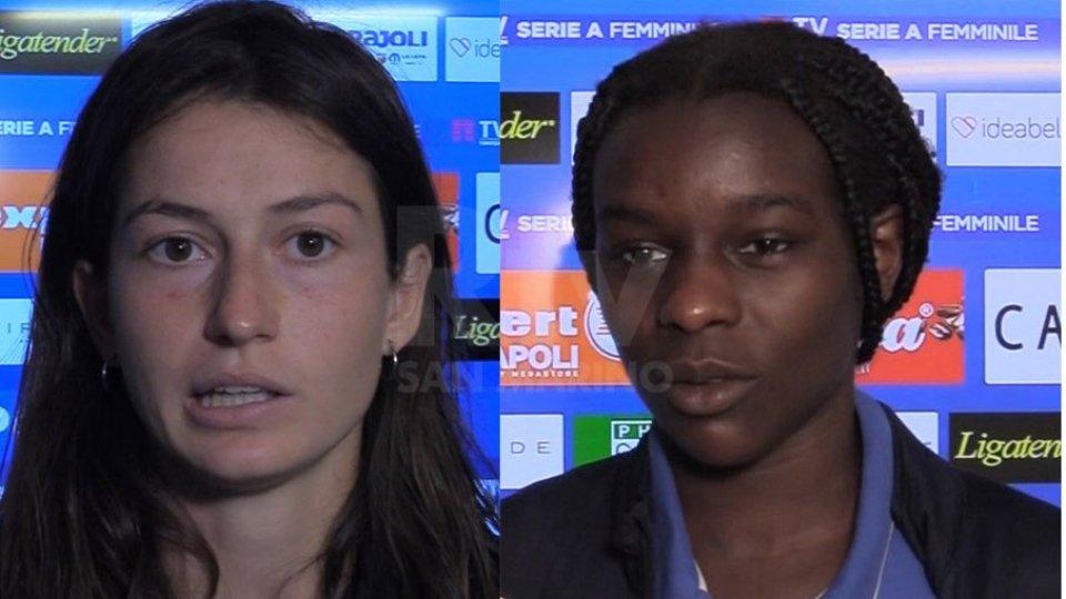 Nel dopo partita di Napoli - San Marino Academy l'analisi di Isotta Nocchi e Karim Muya