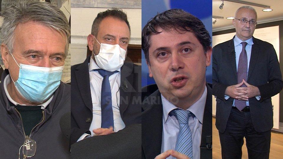 Giuseppe Morganti, il Segretario Luca Beccari, Gerardo Giovagnoli e Mauro Maiani