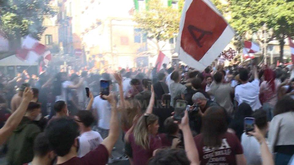 Salerno in A, esplode la festa